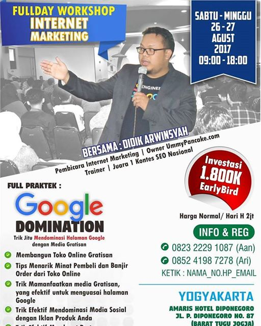 Full Workshop Internet Marketing Google Dominasi