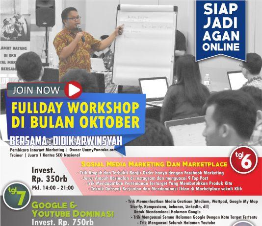 Fullday Workshop Internet Marketing Bulan Oktober di Solo 2017