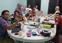 Acara Bakar Bakar Sate Daging Idul Adha di Padma