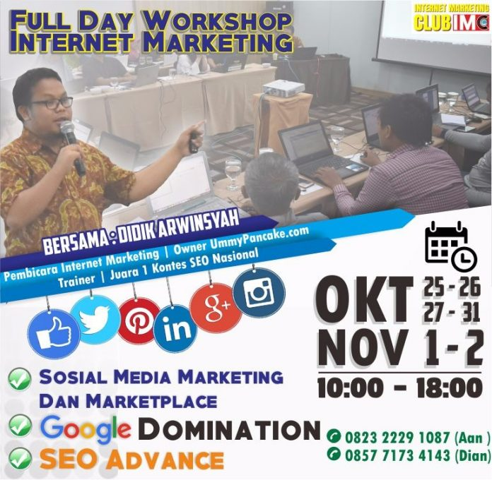 Fullday Workshop Internet Marketing Oktober November 2017