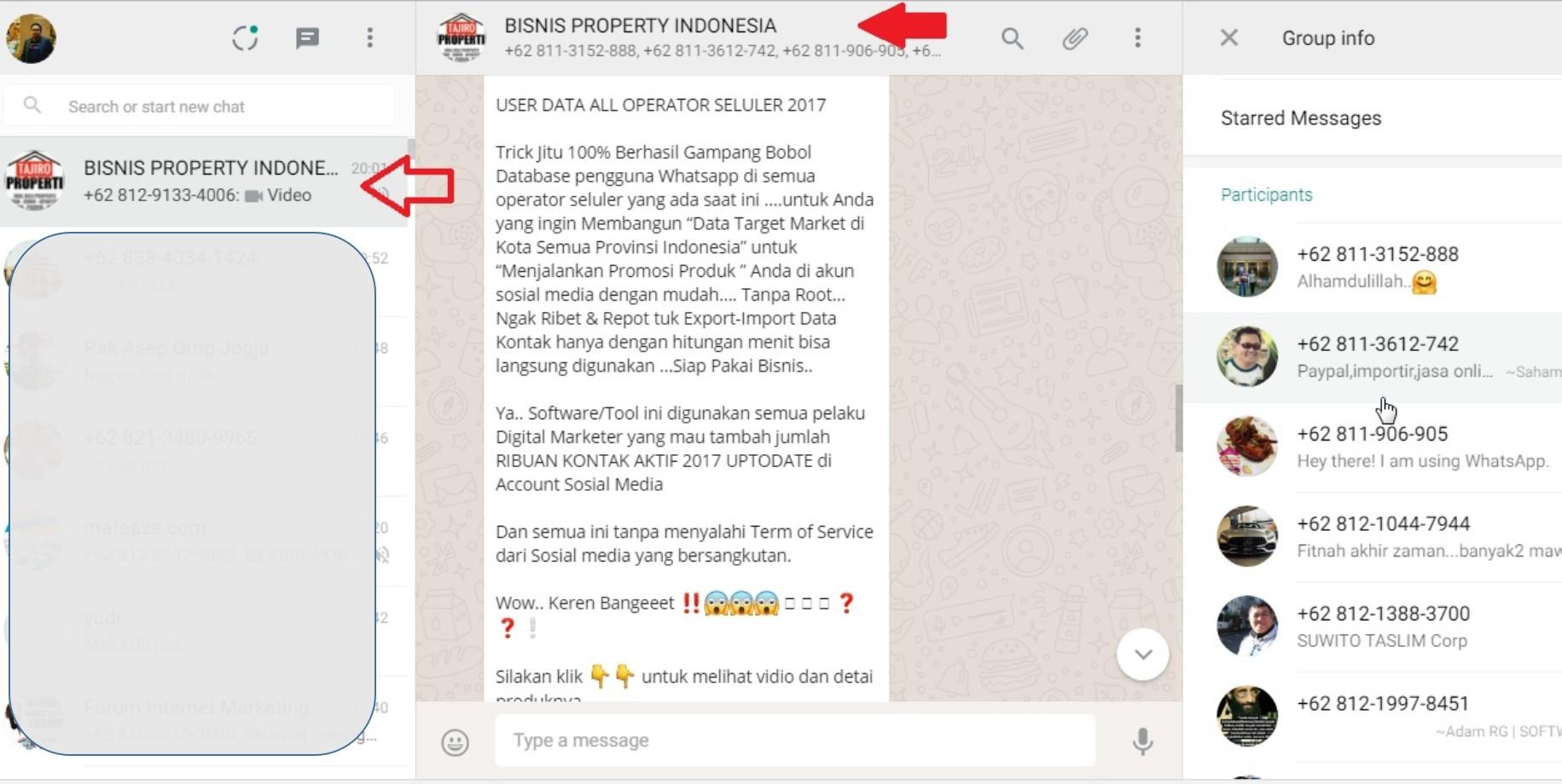 Cara Scrape Whatsapp Tanpa Imacros Cukup Menggunakan Notepad