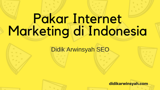 Pakar Internet Marketing di Indonesia