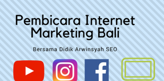 Pembicara Internet Marketing Bali