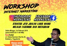 Info Workshop Facebook Instagram Jogja Februrari 2018