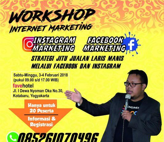 Info Workshop Facebook Instagram Jogja Februrari 2018