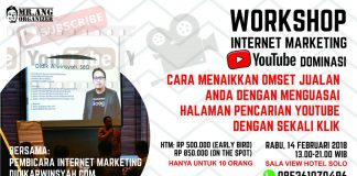 Workshop Youtube Marketing Dominasi Solo Februari 2018
