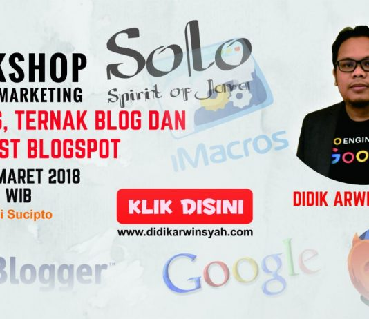 Workshop Imacros Ternak Blogspot dan Auto Post Blog di Solo Maret 2018
