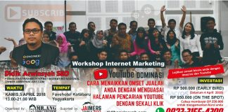 Workshop Youtube Marketing Imacros di Jogja April 2018