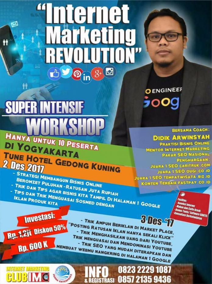 Workshop Internet Marketing Super Intensif Jogja