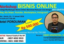 Seminar Internet Marketing dan Bisnis Online di Kudus Januari 2018
