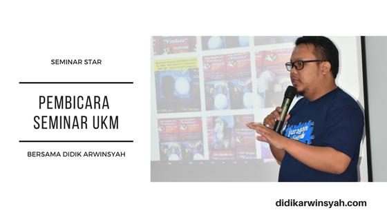 Pembicara Seminar UKM