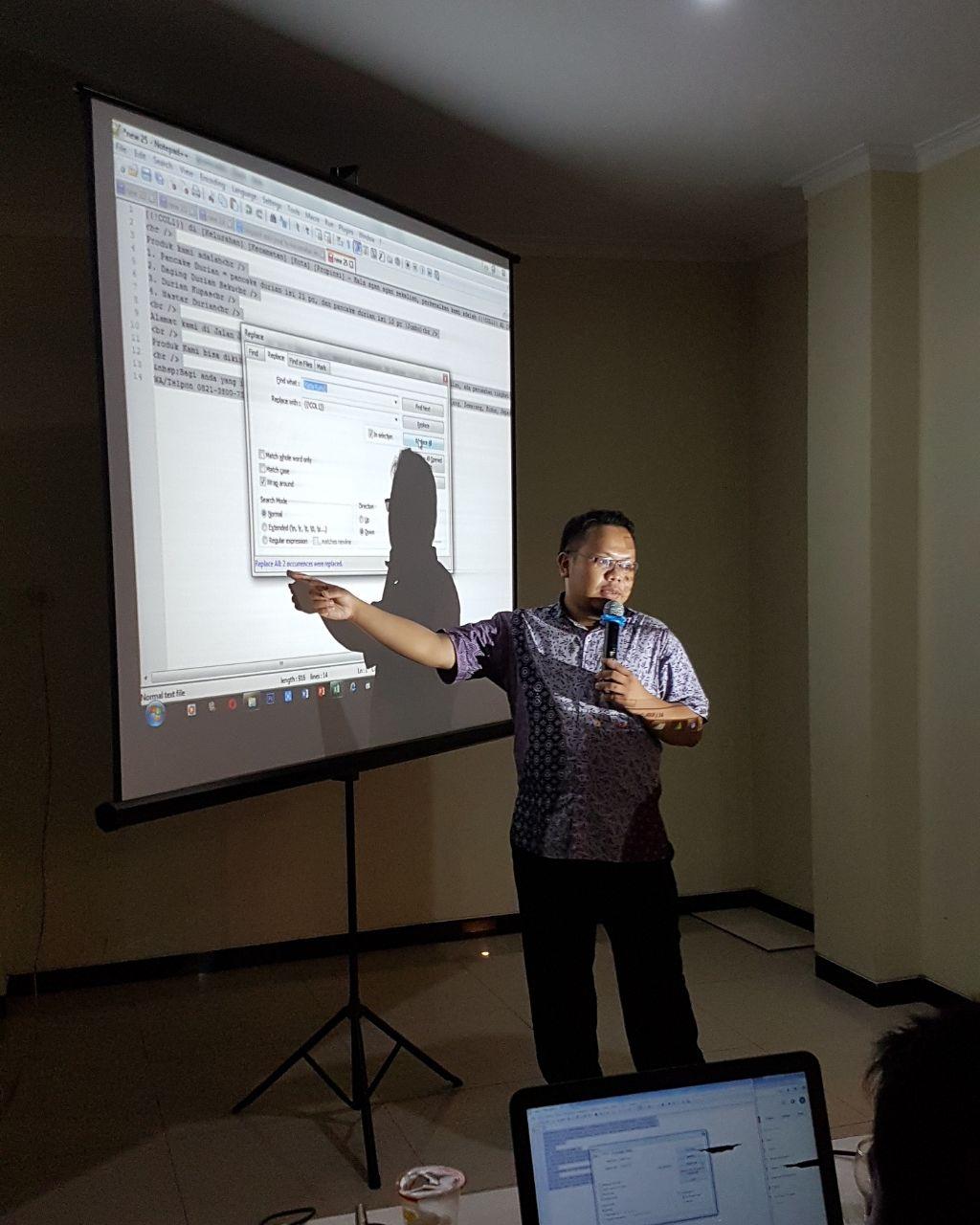 Workshop SEO Auto Blogspot, Upload dan MyMaps di Kudus