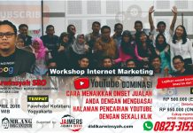 Workshop Youtube Marketing Imacros di Jogja April 2018