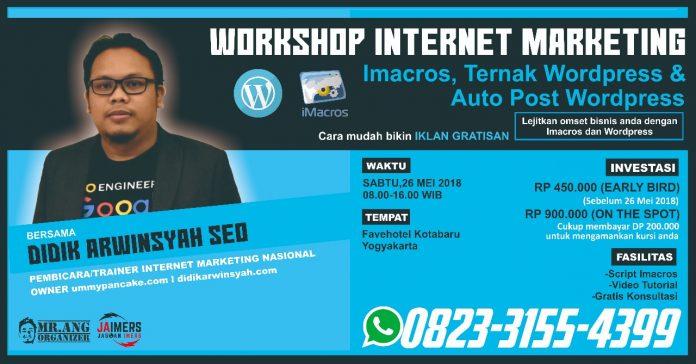 Workshop Internet Marketing Ternak Wordpress di Jogja